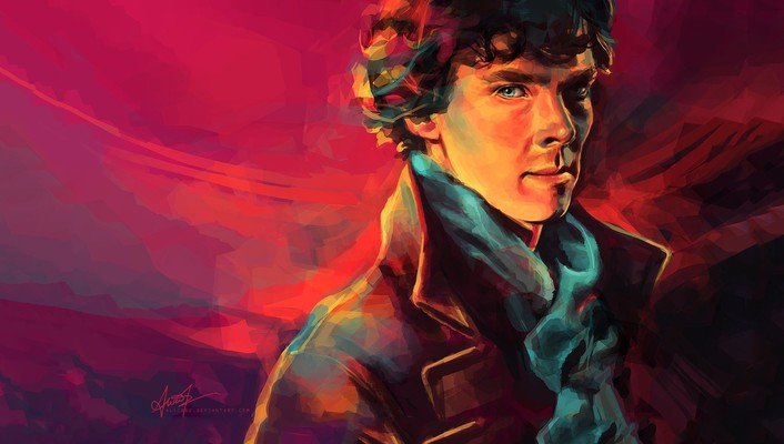 Cumberbatch pink background alice x zhang portraits wallpaper