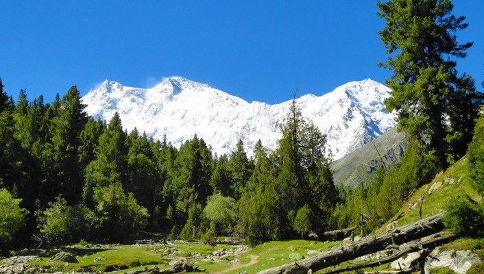 Parbat fairy meadows beautiful landscape mountain range wallpaper