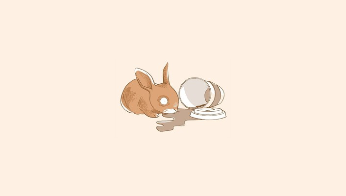 Abstract bunnies coffee simple simplistic wallpaper
