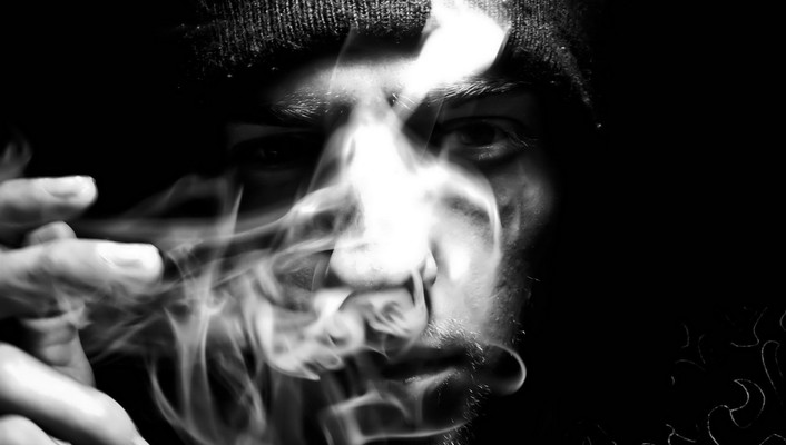 Abstract black smoke smoking wallpaper