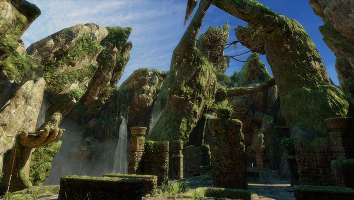 Video games landscapes cave uncharted 3 wallpaper