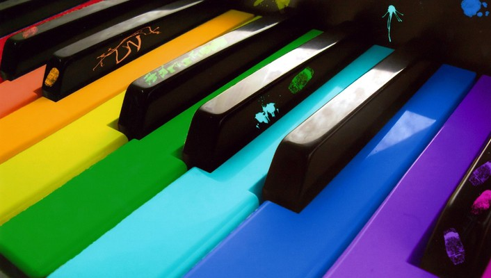 Colors music piano wallpaper