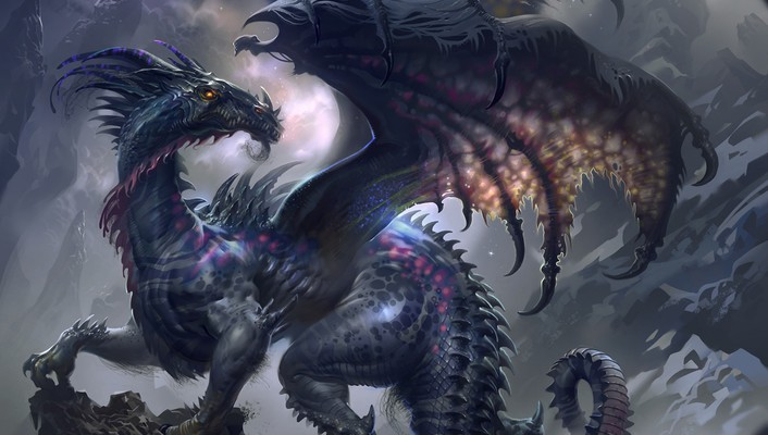 Wings dragons fantasy art beast artwork wallpaper