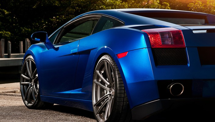 Lamborghini gallardo blue wallpaper