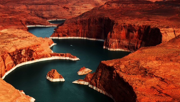 Colours in lake powell wallpaper