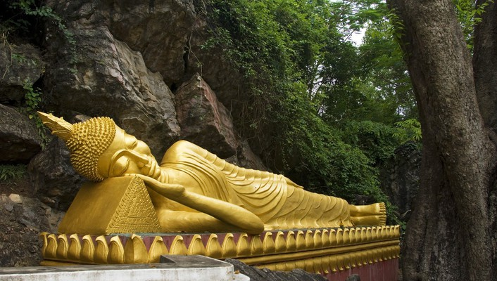 Buddha laos reclining wallpaper