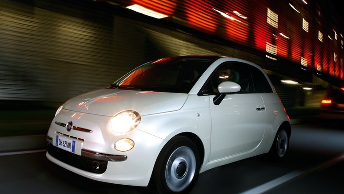 Fiat 500 cars vehicles widescreen wallpaper