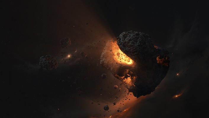 3ds max asteroids core light magma wallpaper