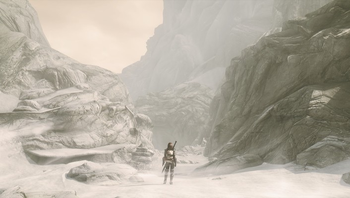 Mountains jaws the elder scrolls v: skyrim wallpaper