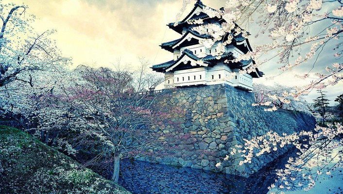 Japan castles hirosaki castle wallpaper
