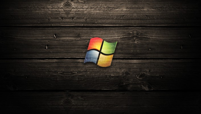 Windows wood background wallpaper