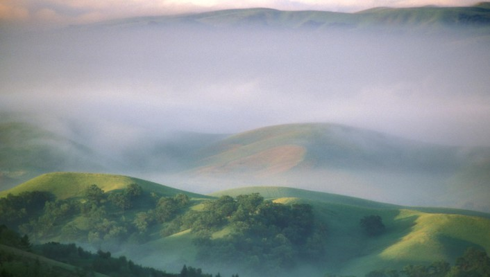 Fog diablo california morning mount mystical wallpaper