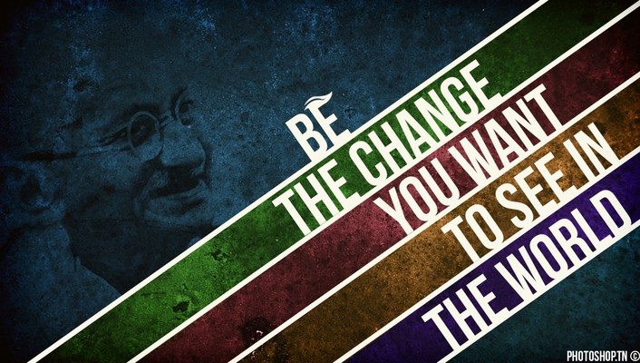Multicolor typography deviantart gandhi digital art mahatma wallpaper
