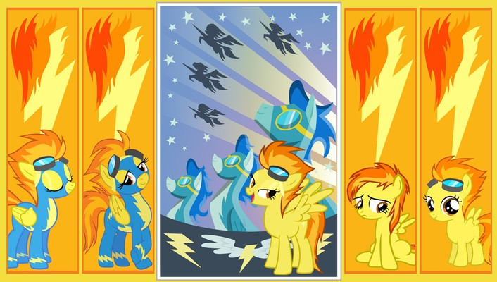 Ponies my little pony: friendship is magic spitfire wallpaper