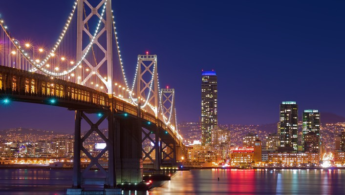 San francisco night wallpaper
