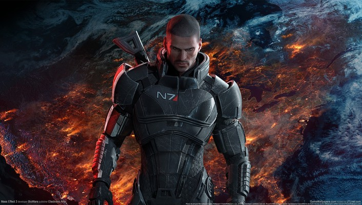 Galaxies mass effect 3 commander shepard wallpaper