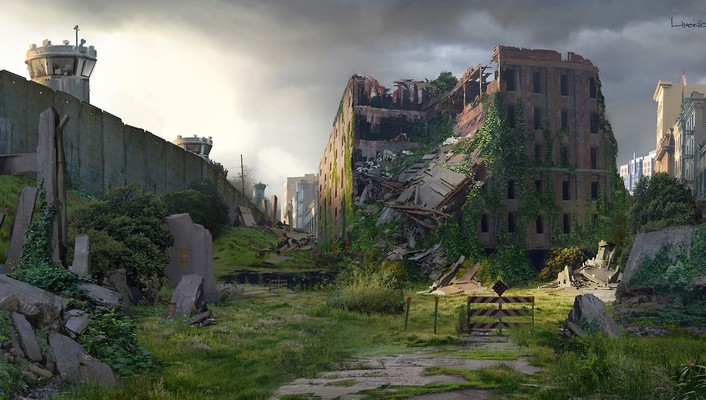 Concept artwork apocalyptic the last of us wallpaper