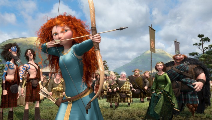 Pixar redheads brave bow (weapon) wallpaper