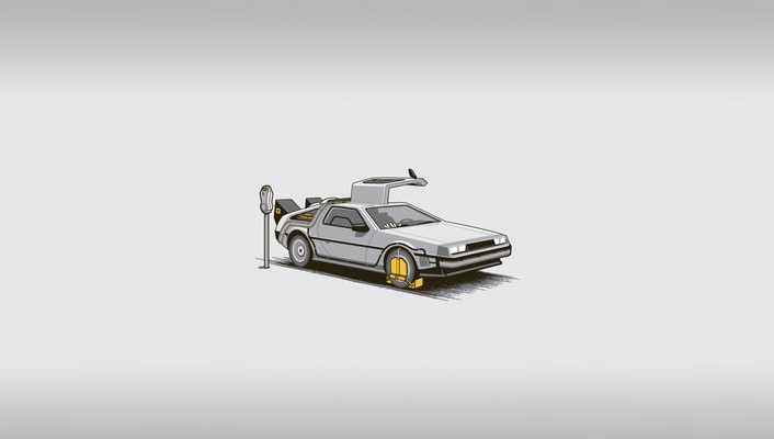 Back to the future fun art wallpaper