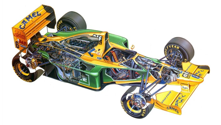 1993 benetton ford formula one cutaway drawings wallpaper