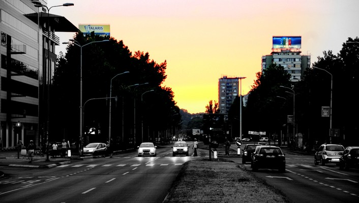 Sun shadows serbia vehicles cities rue beograd wallpaper