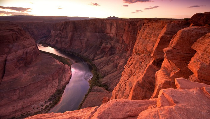 Sunset landscapes nature horseshoe bend wallpaper