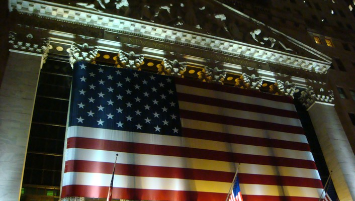 American flag new york stock exchange wallpaper