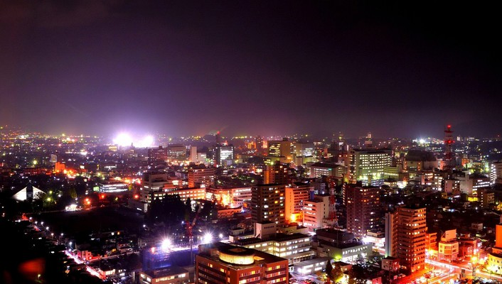 Architecture buildings cityscapes night wallpaper