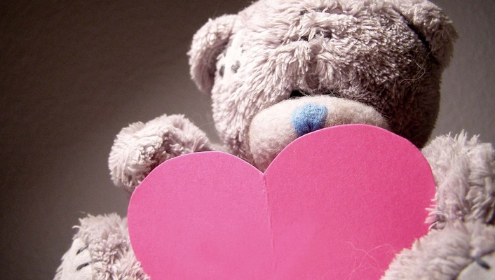Hearts love teddy bears wallpaper
