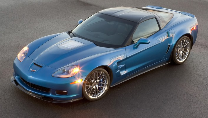 Chevrolet corvette zr1 blue cars lights wallpaper
