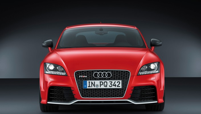 Audi tt rs cars red vehicles wallpaper