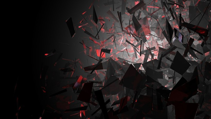 Abstract black and red shapes wallpaper