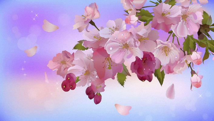 Apple inc. digital art artwork blossom bloom wallpaper