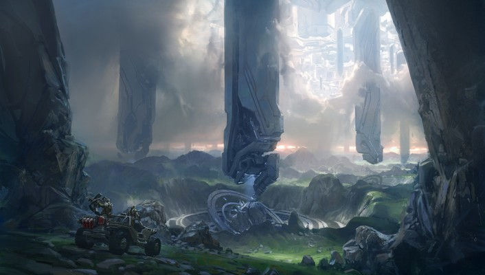 Video games futuristic artwork halo 4 wallpaper