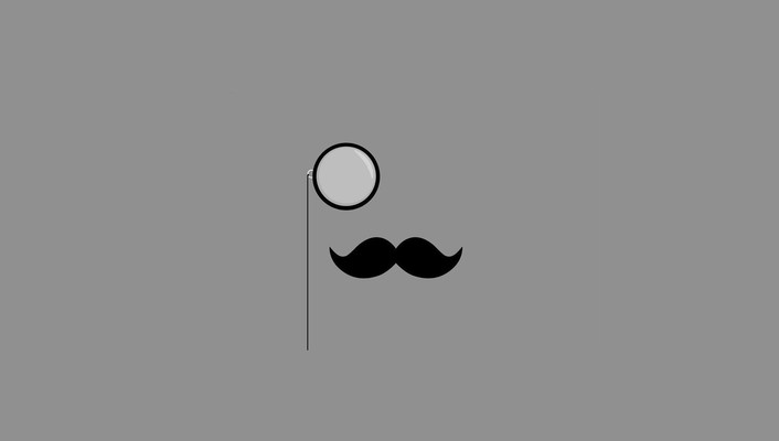Minimalistic monocle simple background mustache wallpaper