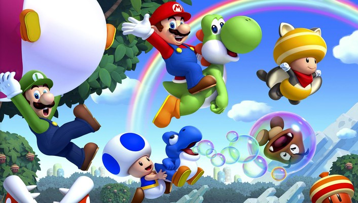 Video games mario new super bros wallpaper