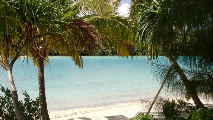 And lagoon ocean aitutaki cook islands polynesia wallpaper