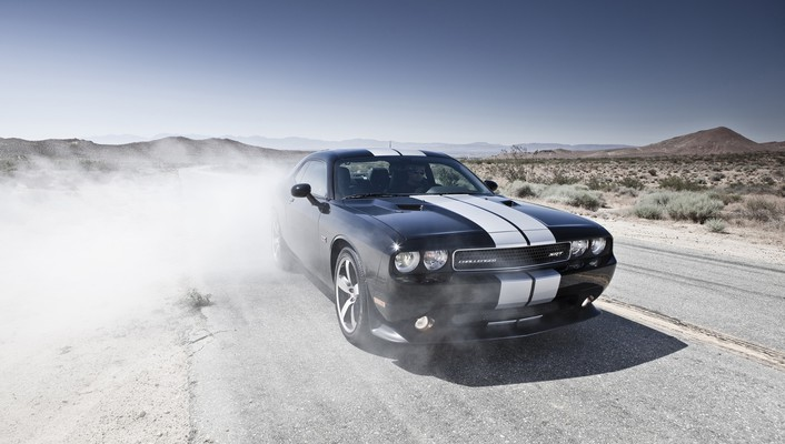 Dodge challenger srt8 cars front smoke wallpaper