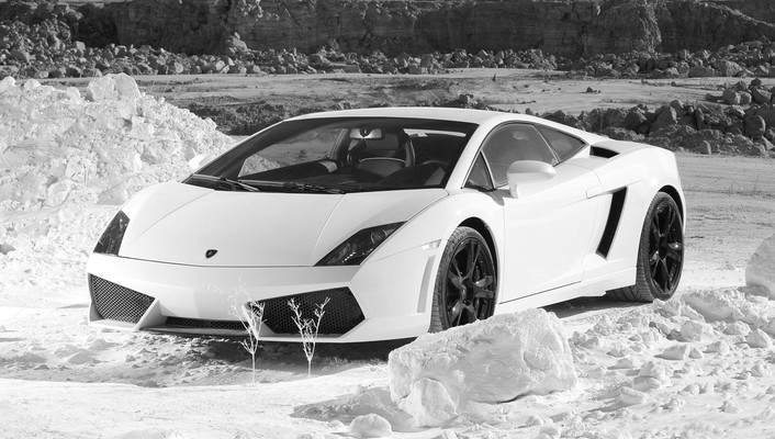 Lamborghini cars monochrome wallpaper