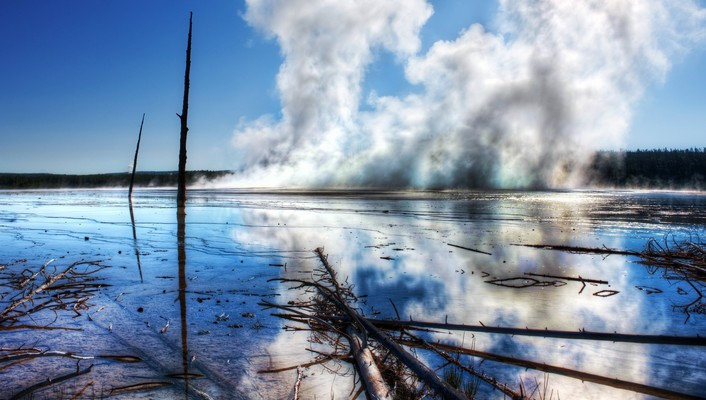 Hdr photography cold forests ice lakes wallpaper