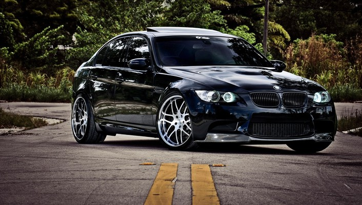 Bmw black cars nature wallpaper