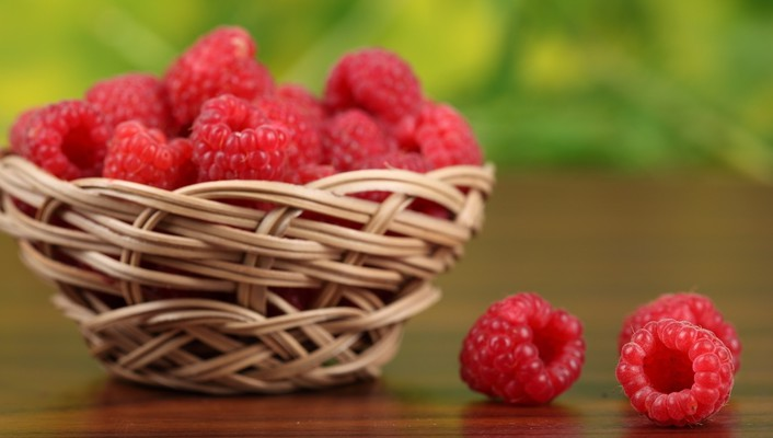 Fruits food crop raspberries berry wallpaper