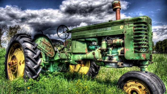 Old john deer hdr wallpaper