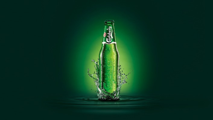 Carlsberg beers bottles brands digital art wallpaper
