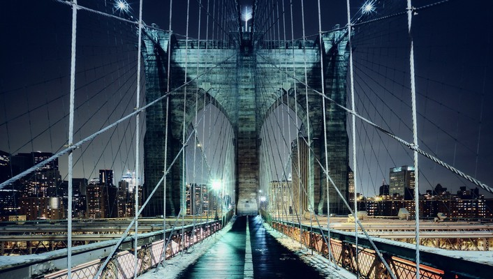 Brooklyn bridge new york city bridges cityscapes lights wallpaper