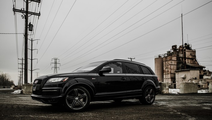 Audi q7 german cars suv black wallpaper
