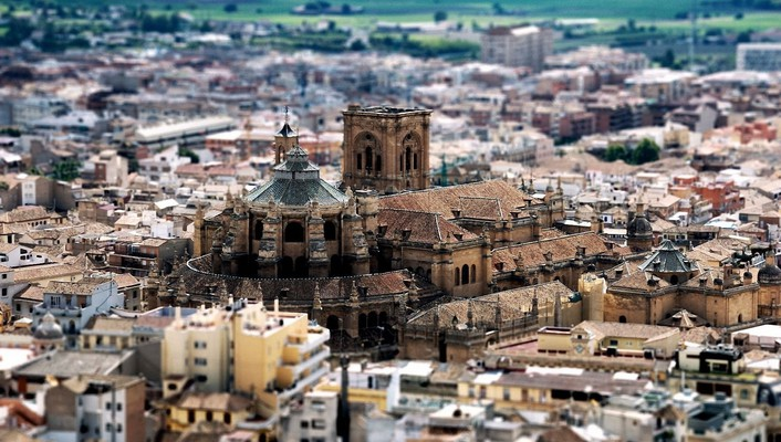 Granada spain cathedrals cities cityscapes wallpaper
