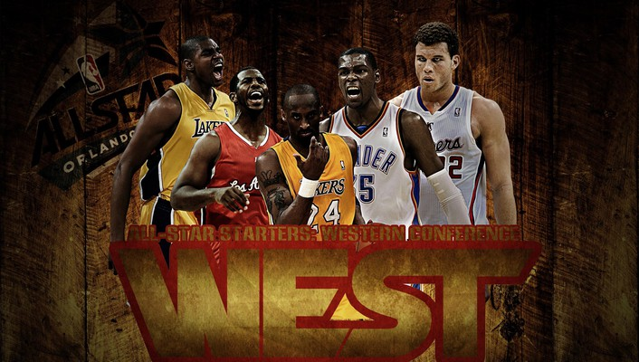 Nba all star baskets sports west wallpaper