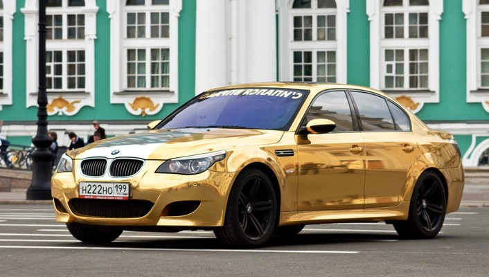 Bmw cars gold wallpaper