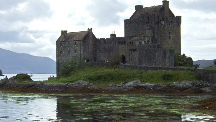 Scotland castles lakes nature water wallpaper